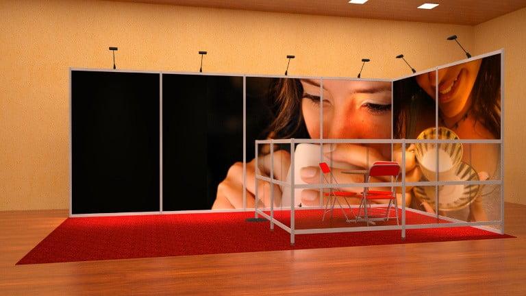 Contego-messuosasto näkösuojasermillä, L-malli