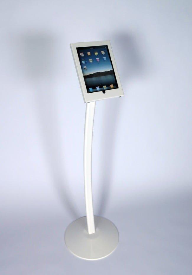 iPad lattiateline valkoinen