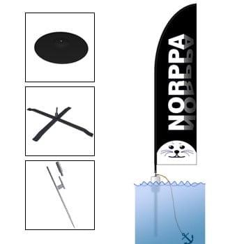 Lipputeline Flying Banner Norppa