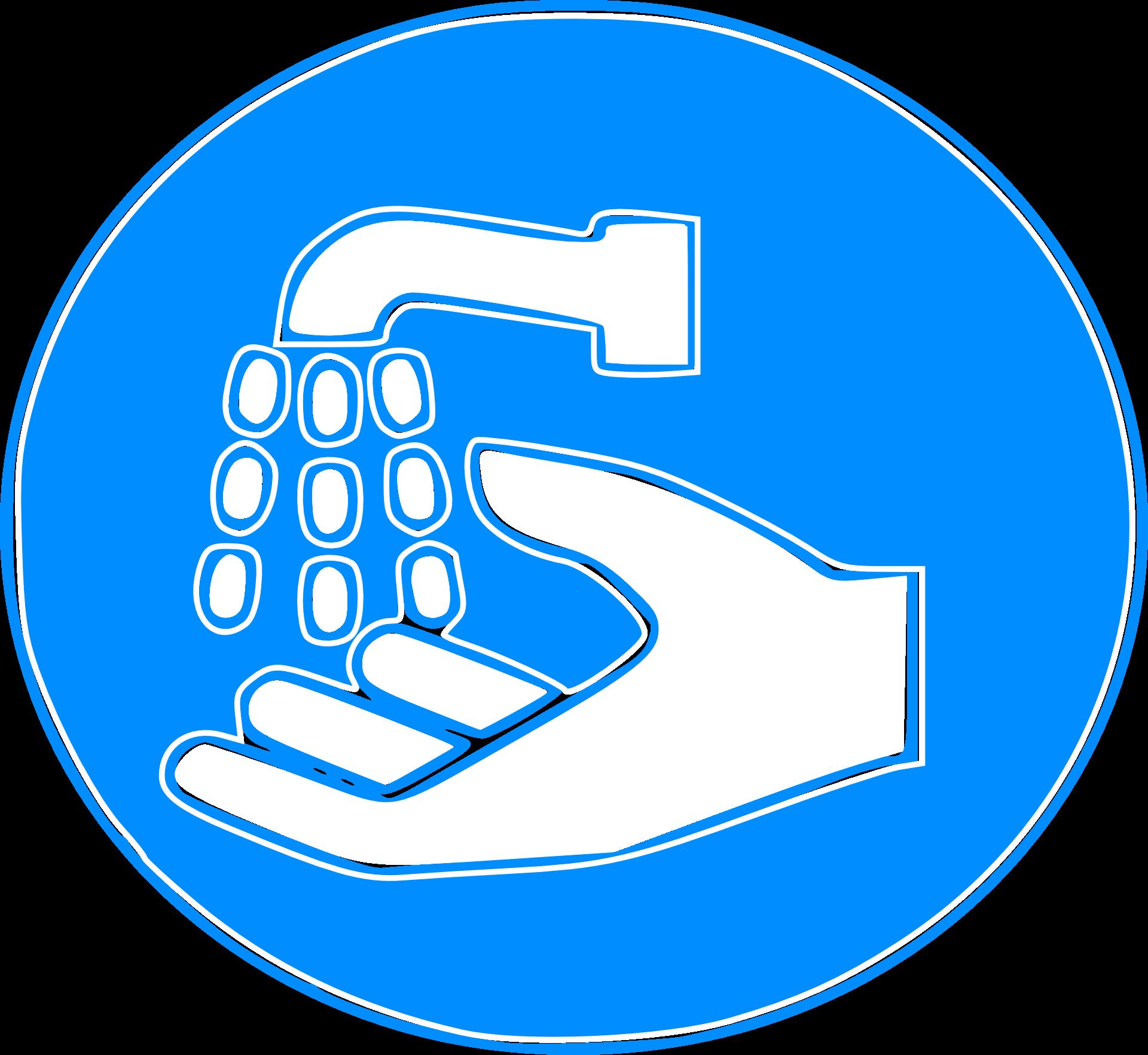 Käsienpesu kyltti
