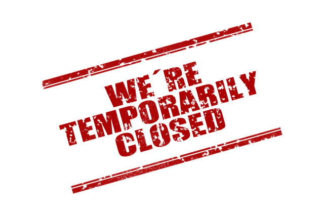 We are temporarily closed kyltti