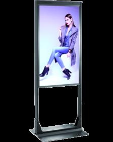 Digital Signage kaksipuolinen ikkunanäyttö