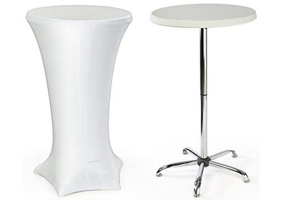 Cocktailpöytä venyvällä pöytäliinalla