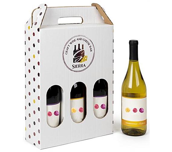 Viinipullojen kantolaukku pahvista